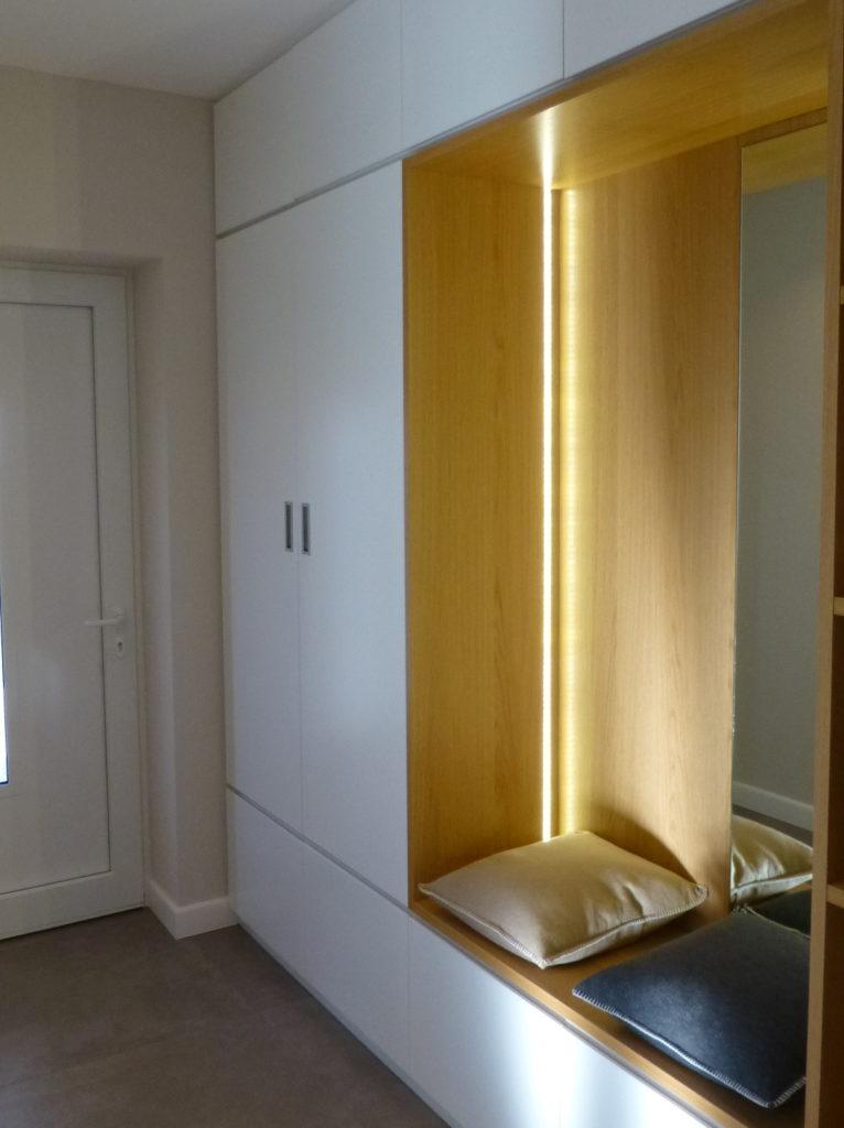 Tack tischlerei in lippstadt garderobe mit sitzbank for Garderobe mit sitzbank