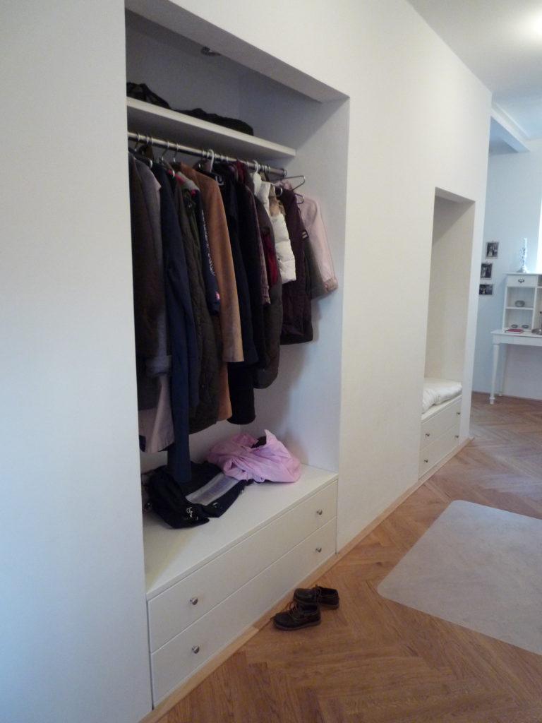 Tack tischlerei in lippstadt einbauschrank diele for Diele garderobe